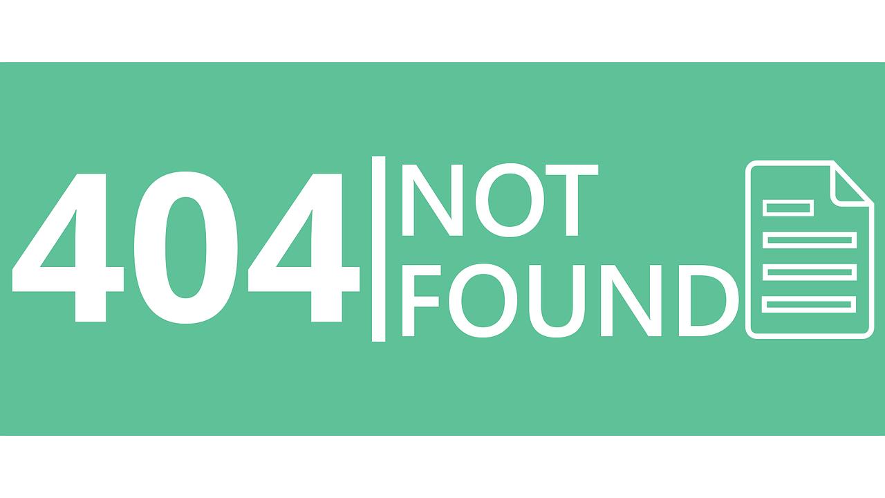 404 error görseli
