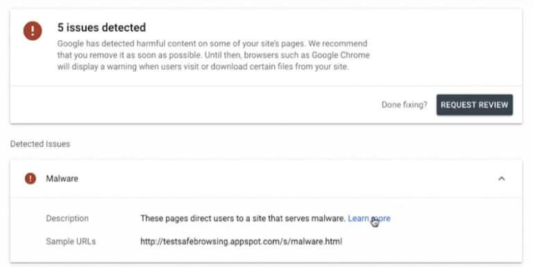 Google Search Console güvenlik problemlerinin çözümü