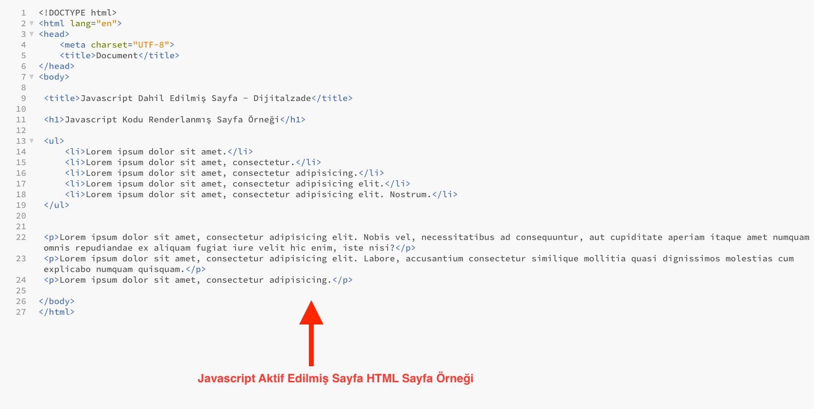 Javascript Oluşturulduktan sonra sayfa örneği