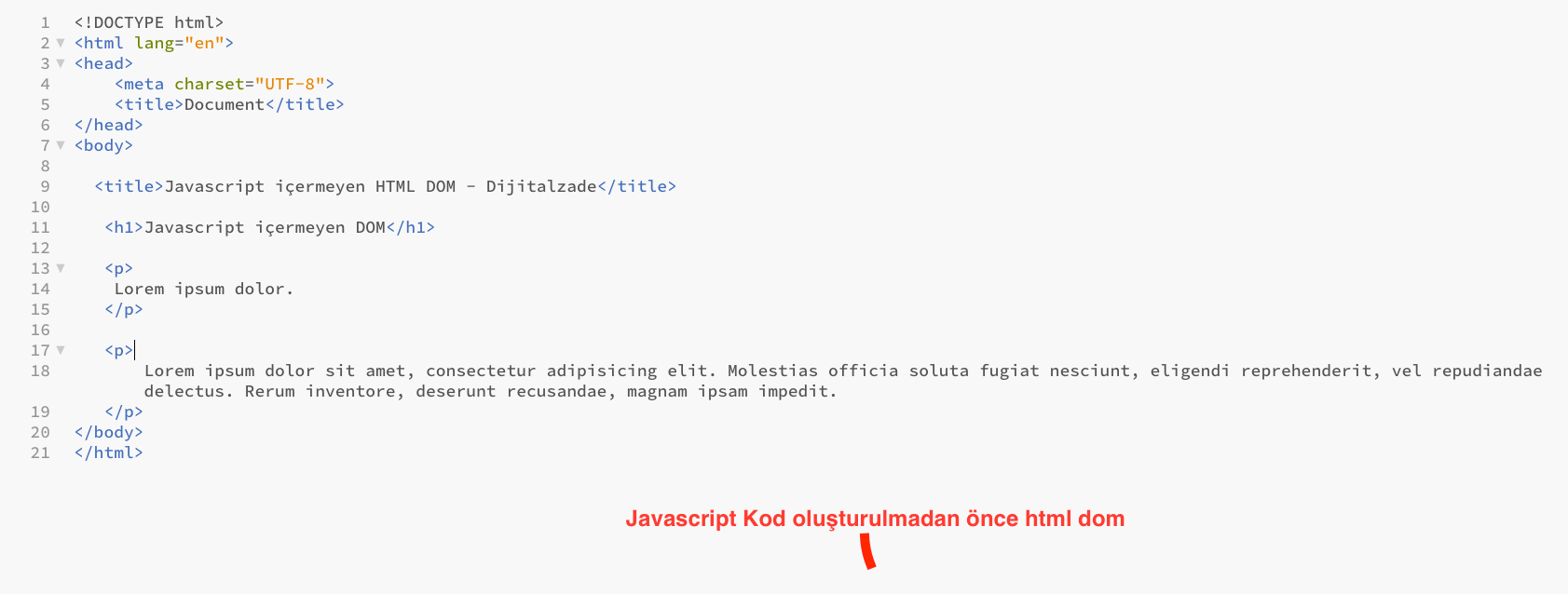 Javascript öncesi sayfa örneği