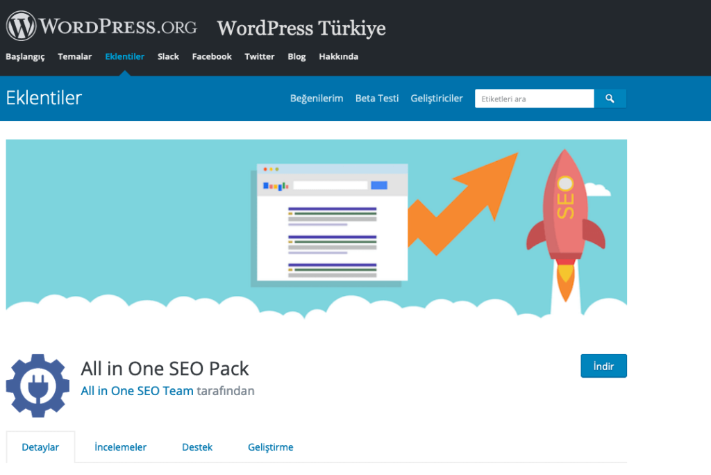 all in one seo pack - wordpress eklentileri