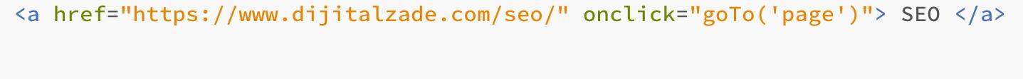 html ve javascript birlikte link verilişi
