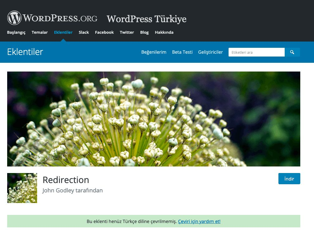Redirection - wordpress eklentileri