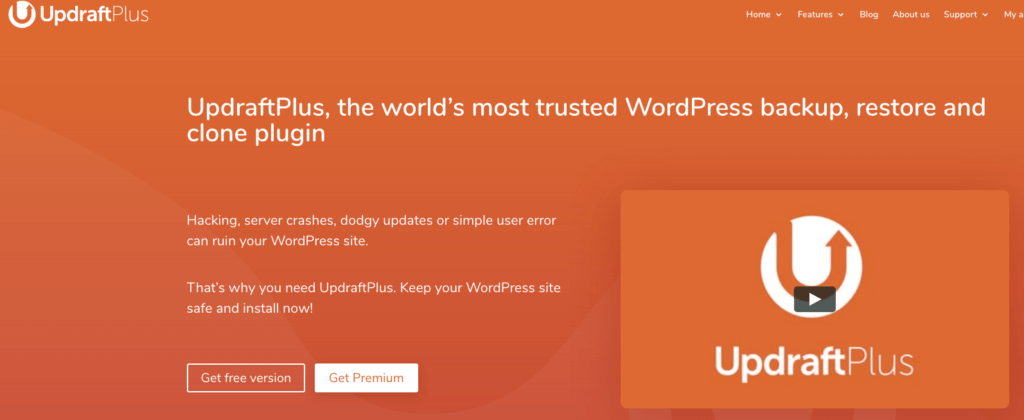 Updraft Plus - en iyi wordpress eklentileri