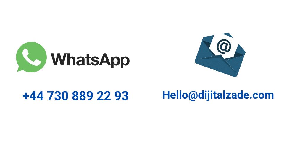 Dijitalzade.com iletişim bilgilerimiz