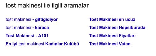 Google'da üst sıralara çıkmak için semantic kelimelere yer verin örneği