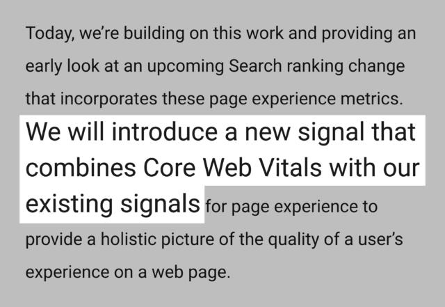 Google core web vitals yeni sıralama faktörü olacak duyurusu