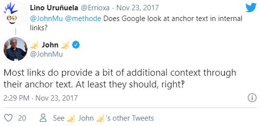 Google, John Mueller tarafından yapılan anchor text açıklaması